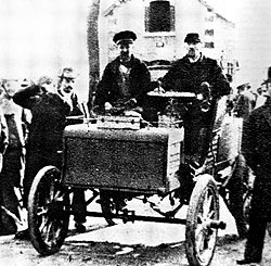 1898 CGA Dogcart. Camille Jenatzy - 2nd official land-speed record.