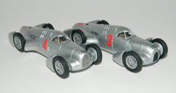 1935 Auto Union Type B Avusrennen May 26th Prinz zu Leiningen No.3, Bernd Rosemeyer No.4